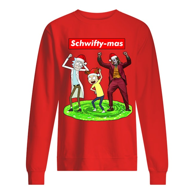 Official Schwifty mas Rick and Morty and Joker dancing sweater