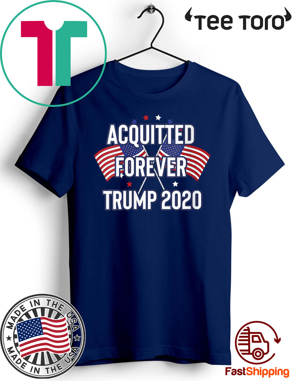 Acquitted Forever Trump 2020 Anti-Impeachment Victory 2020 T-Shirt