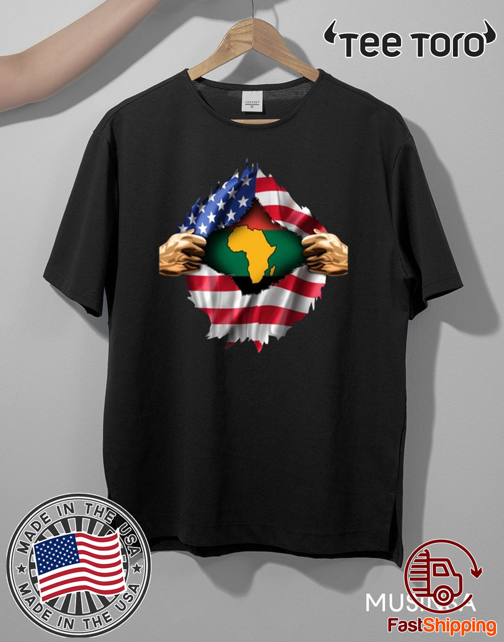 African Blood Inside My American 2020 T-Shirt
