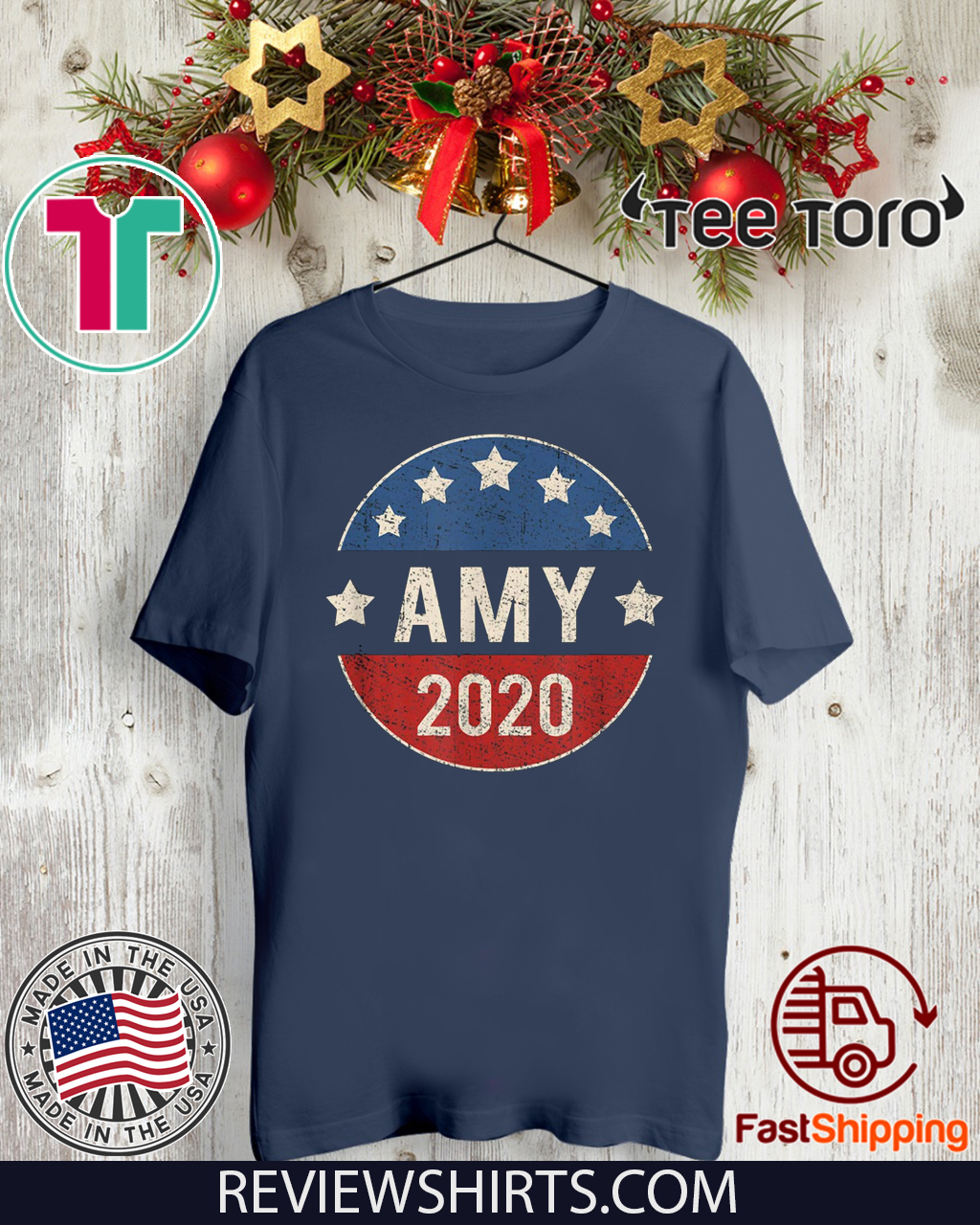 Amy Klobuchar For President 2020 Retro Election Button Hot T-Shirt