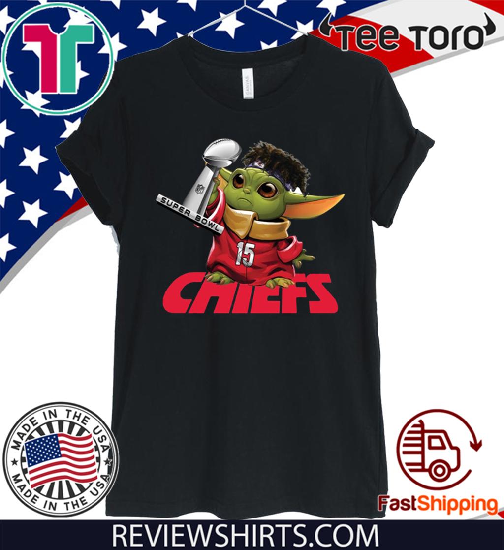 Baby Yoda Kansas City Chiefs Super Bowl For T-Shirt