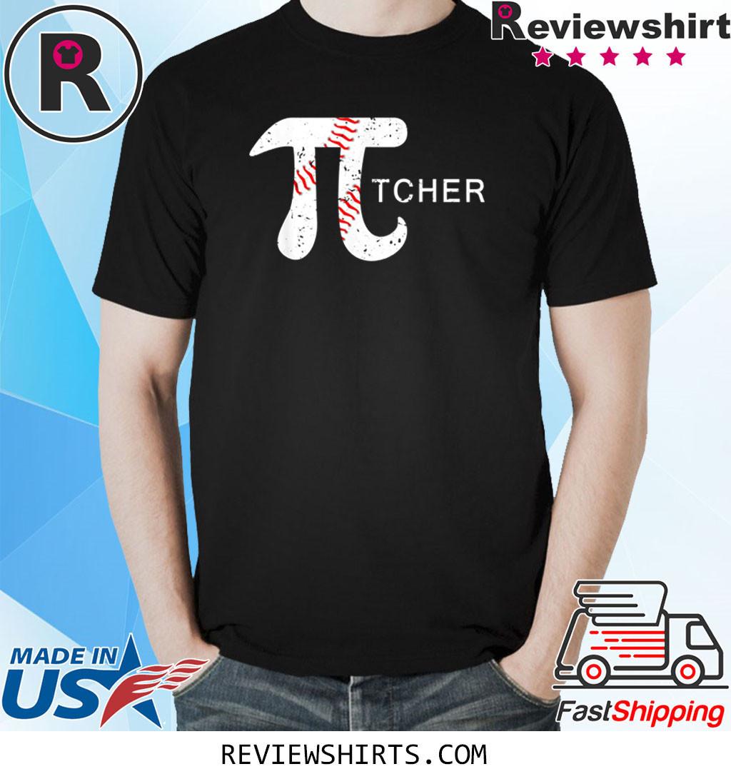 Baseball Pi-tcher Math Funny Pi Day Shirt
