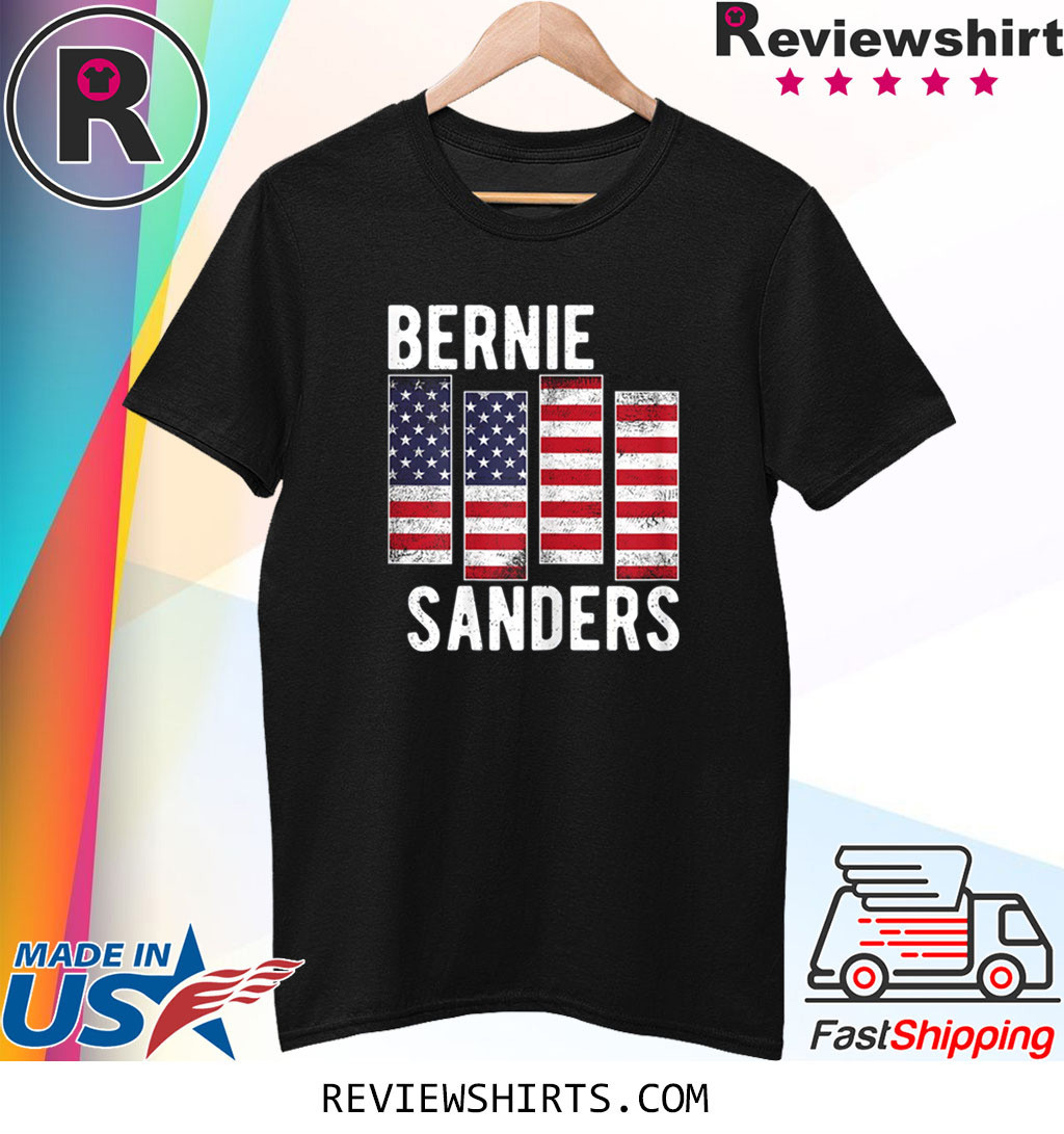 Bernie Sanders Black US Flag Vintage America Flag Not Me T-Shirt