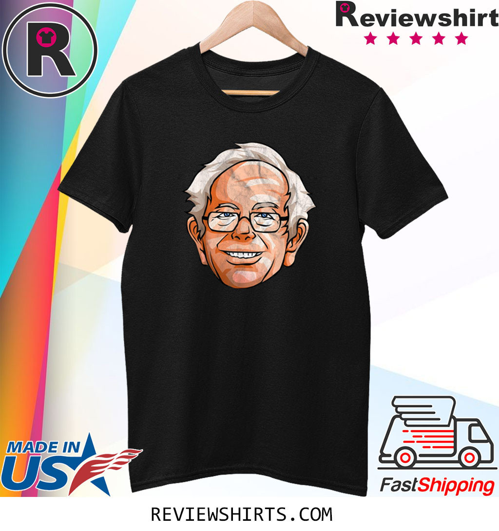 Bernie Sanders Shirt Presidential Portrait Bern Hair Glasses T-Shirt