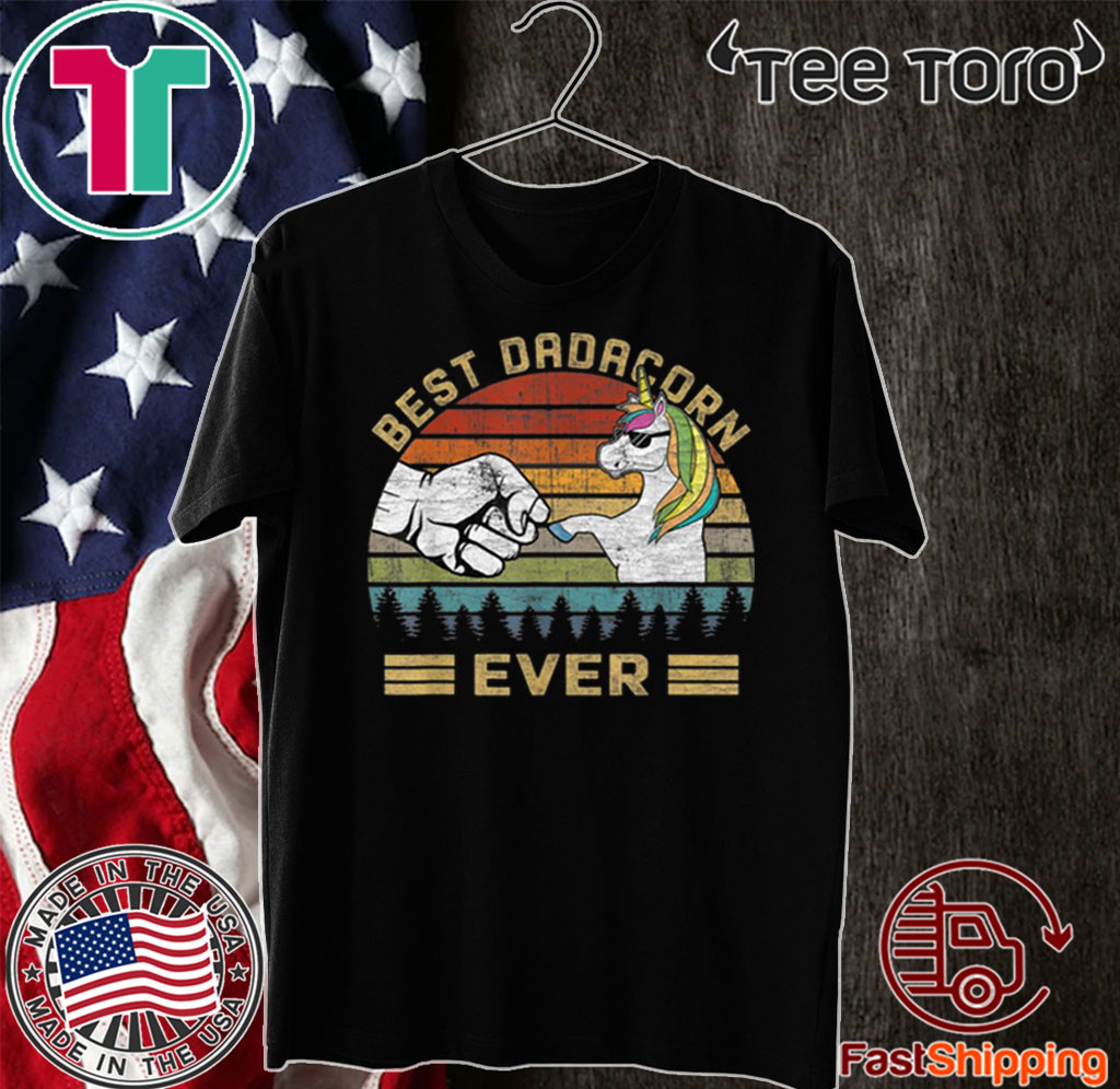 Best Dadacorn Ever Tee Dada Unicorn Father's Day 2020 T-Shirt