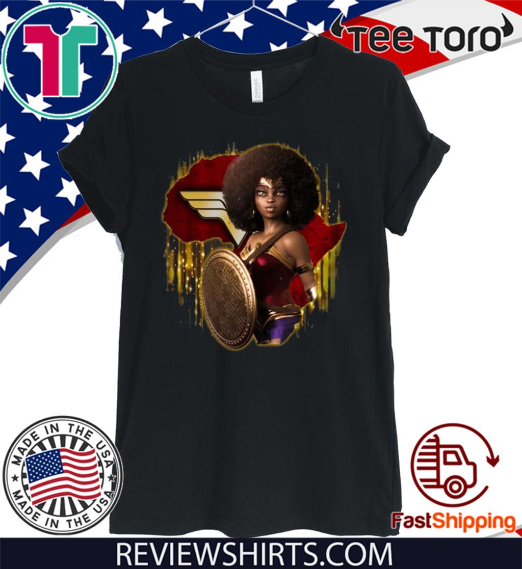 Black Wonder Woman For T-Shirt