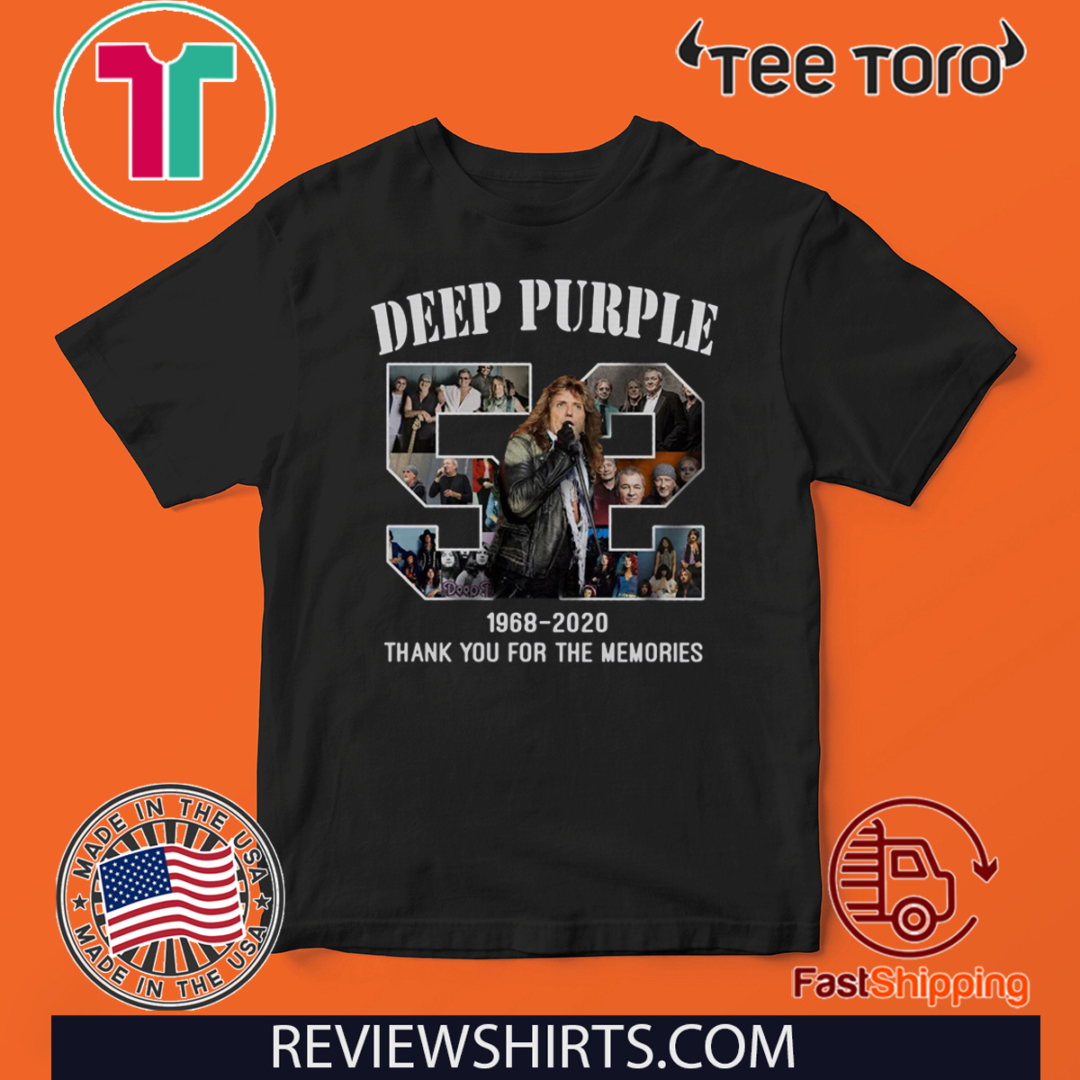 Deep Purple 1968 – 2020 Thank You For The Memories Hot T-Shirt