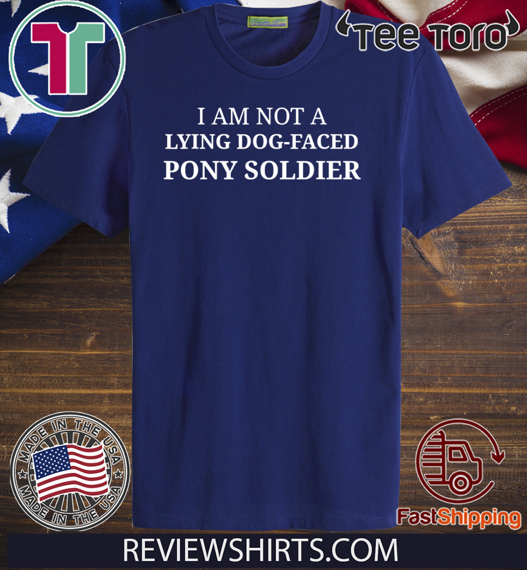 Official Lying Dog-Faced Pony Soldier Election 2020 Funny Political T-Shirt