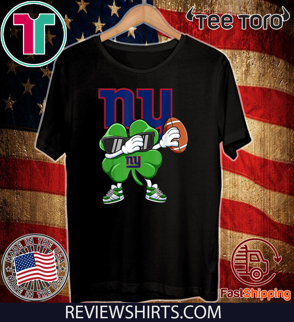 Dabbing Shamrock Football St Patrick's Day NewYork Giant Shirt