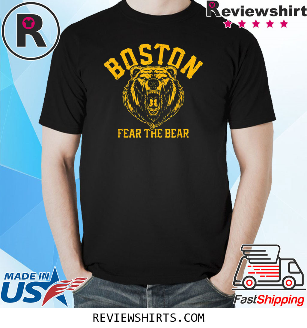 Fear The Bear Hockey Beware of Boston Sports Fan T-Shirt