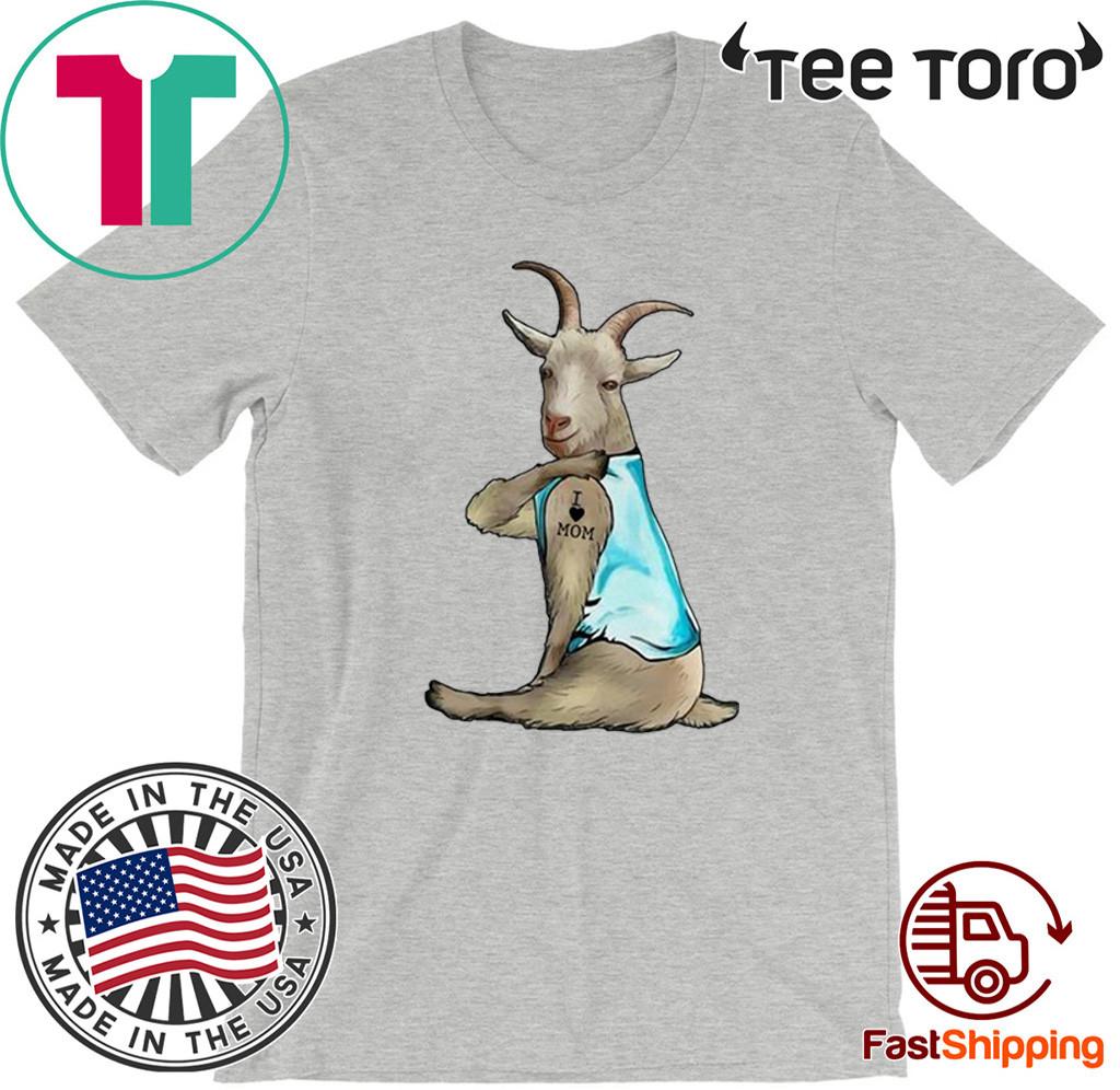 Goat Tattoo I Love Mom 2020 T-Shirt