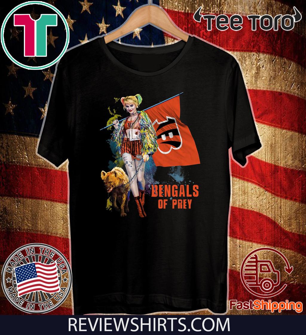 Harley Quinn Cincinnati Bengals Of Prey Shirt