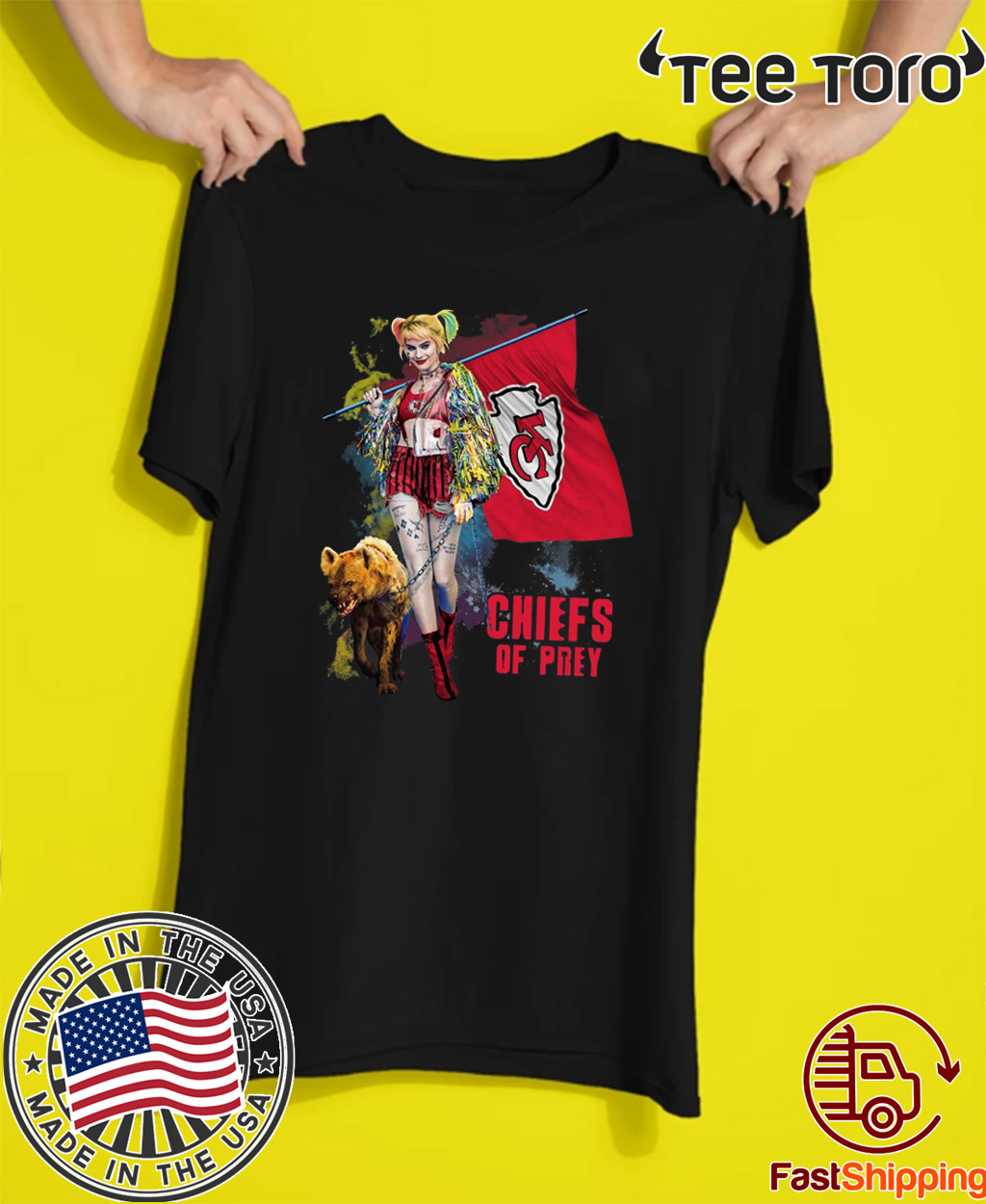 Harley Quinn Kansas City Chiefs Of Prey For T-Shirt
