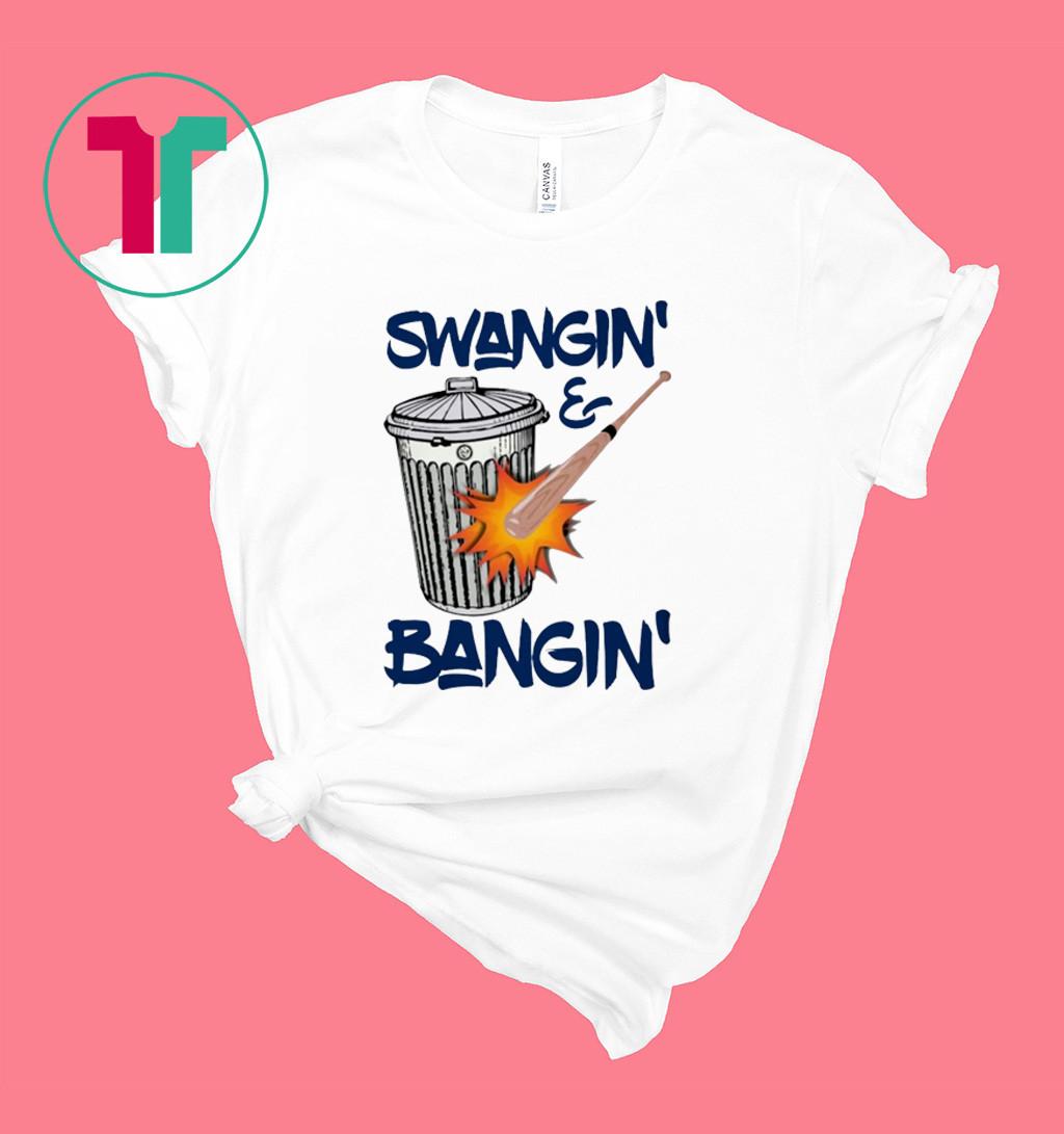 HOUSTON SWANGIN AND BANGIN HOUSTON BASEBALL SIGN STEALING T-SHIRT