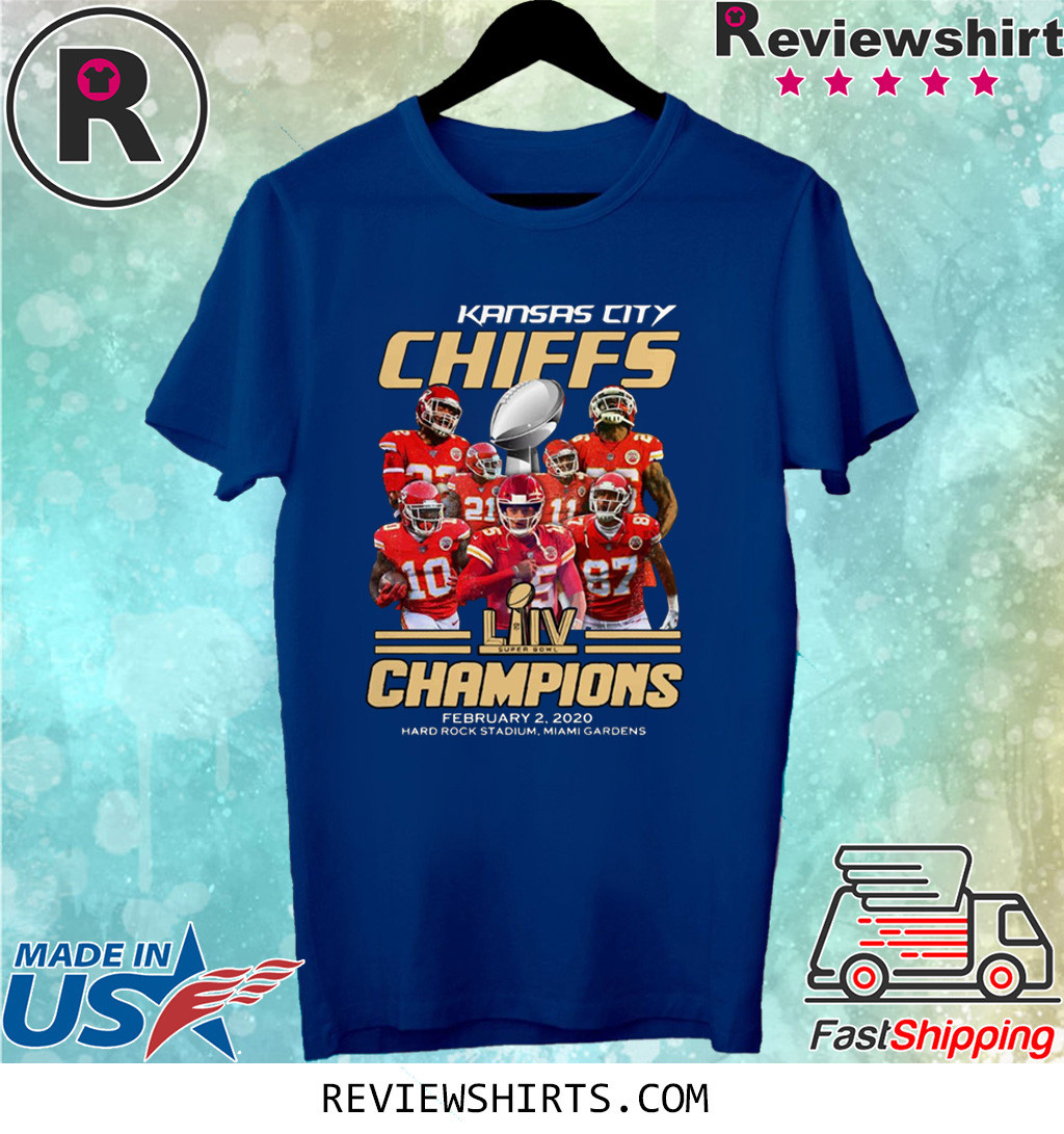 Kansas City Chiefs Super Bowl Champions February 2 2020 hard rock stadium miami gardens shirt