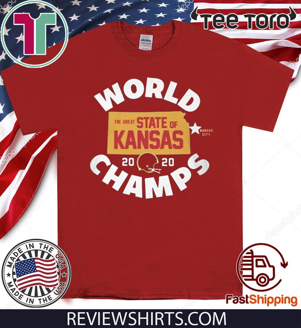KANSAS WORLD CHAMPS SHIRT - THE GREAT STATE OF KANSAS 2020 T-SHIRT