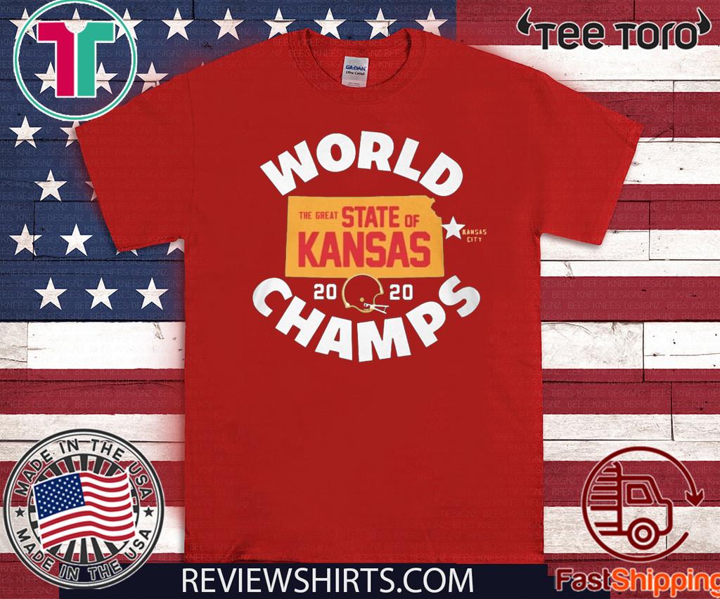 KANSAS WORLD CHAMPS SHIRT - THE GREAT STATE OF KANSAS