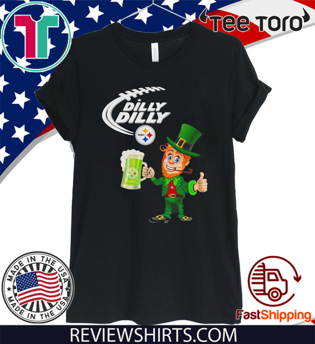 Leprechaun Dilly Dilly Pittsburgh Steelers Patrick's day 2020 T-Shirt