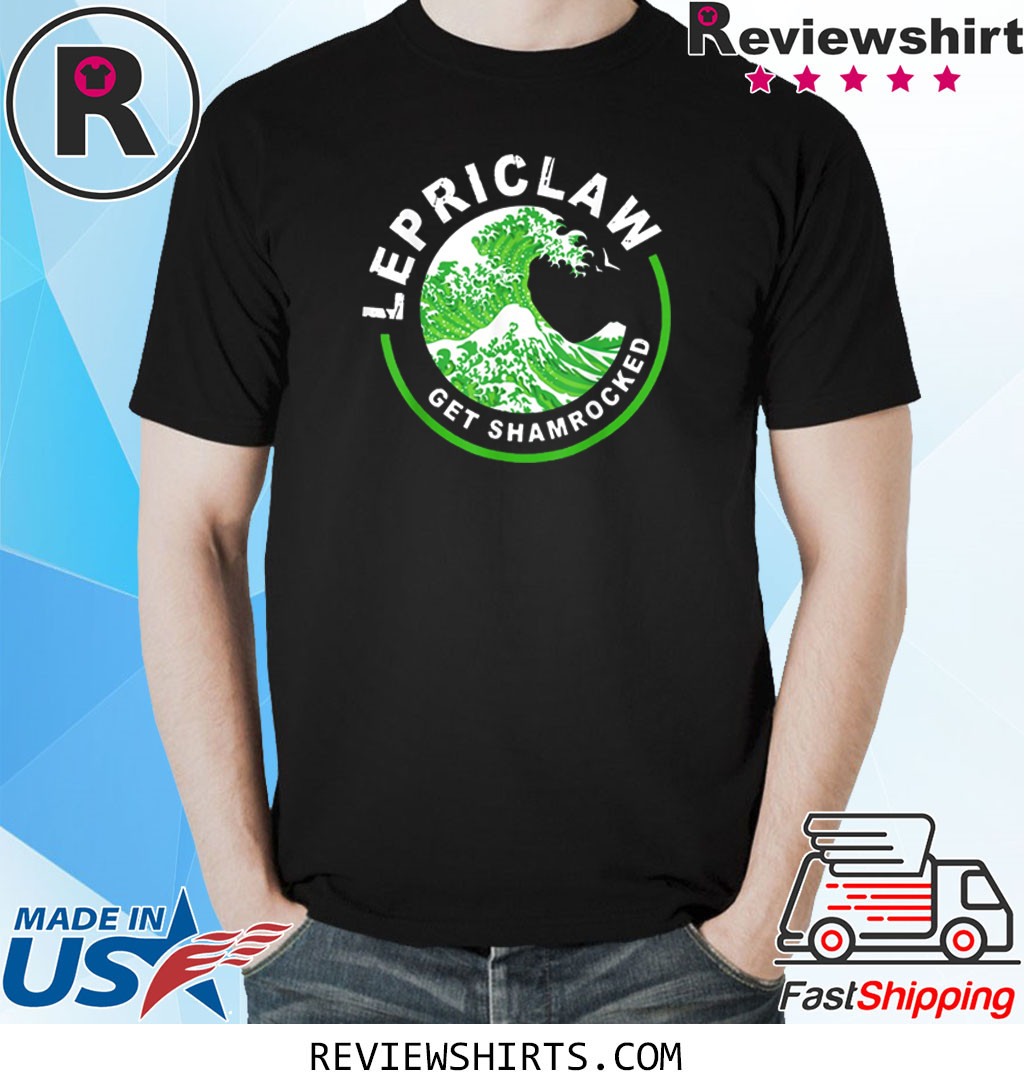 Lepriclaw Get Shamrocked Drinking St Patrick's Day Claw T-Shirt