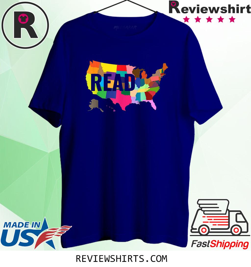 National Read America Shirt United States Read Books T-Shirt