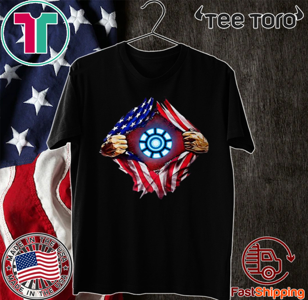 Iron Man Arc Reactor American Shirt