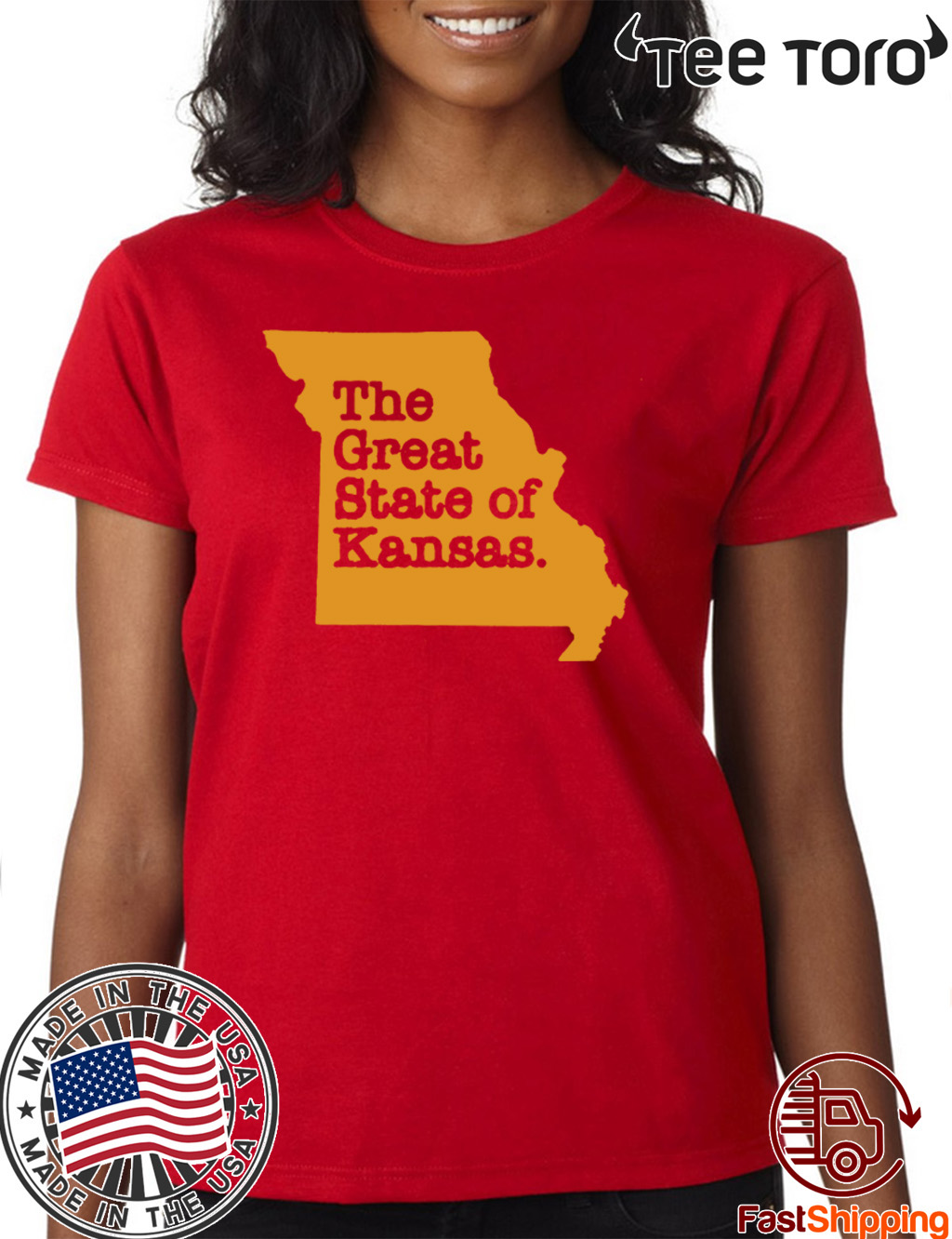 Buy The Great State Of Kansas T-Shirt