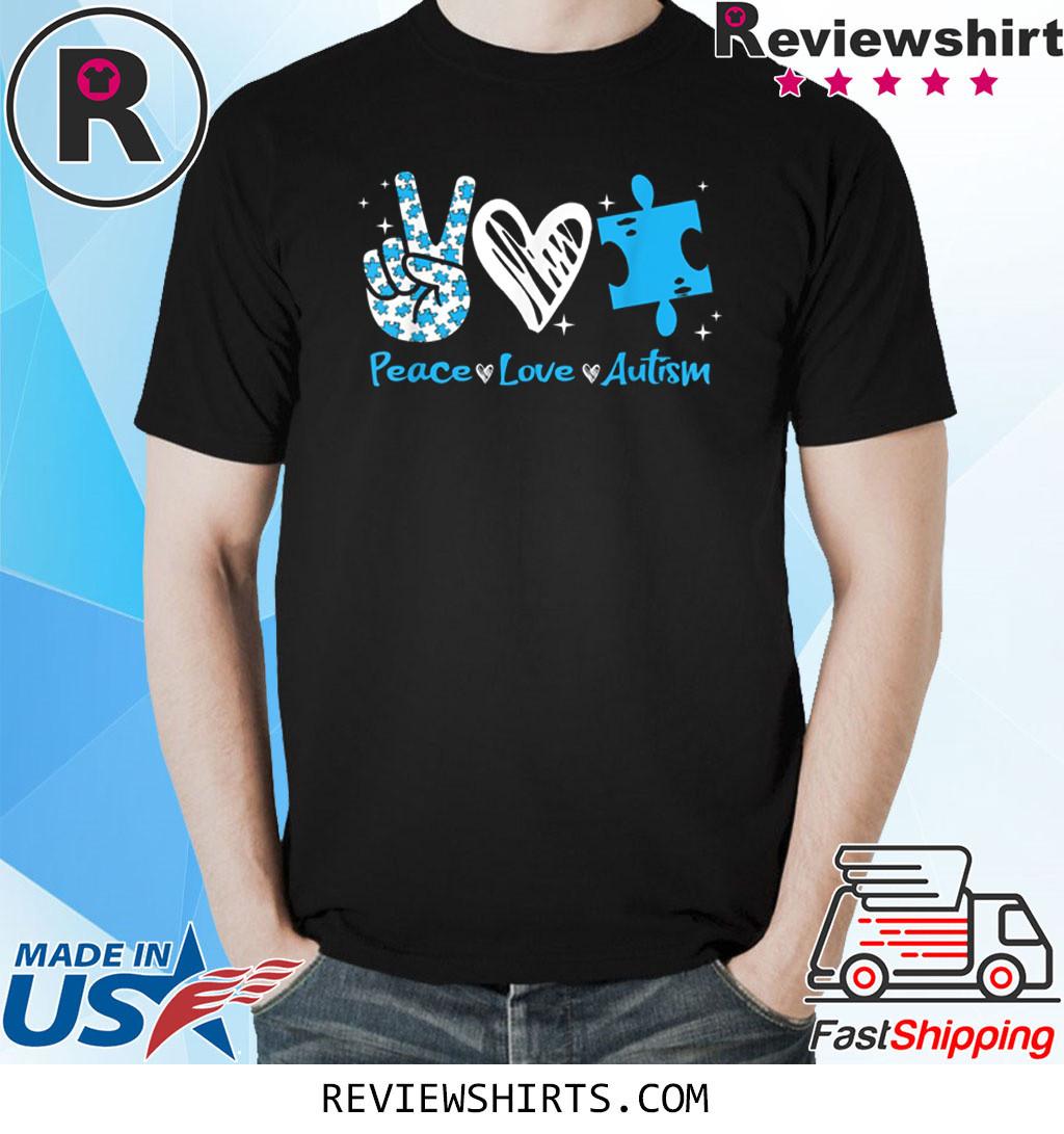 Peace Love Autism Awareness T-Shirt