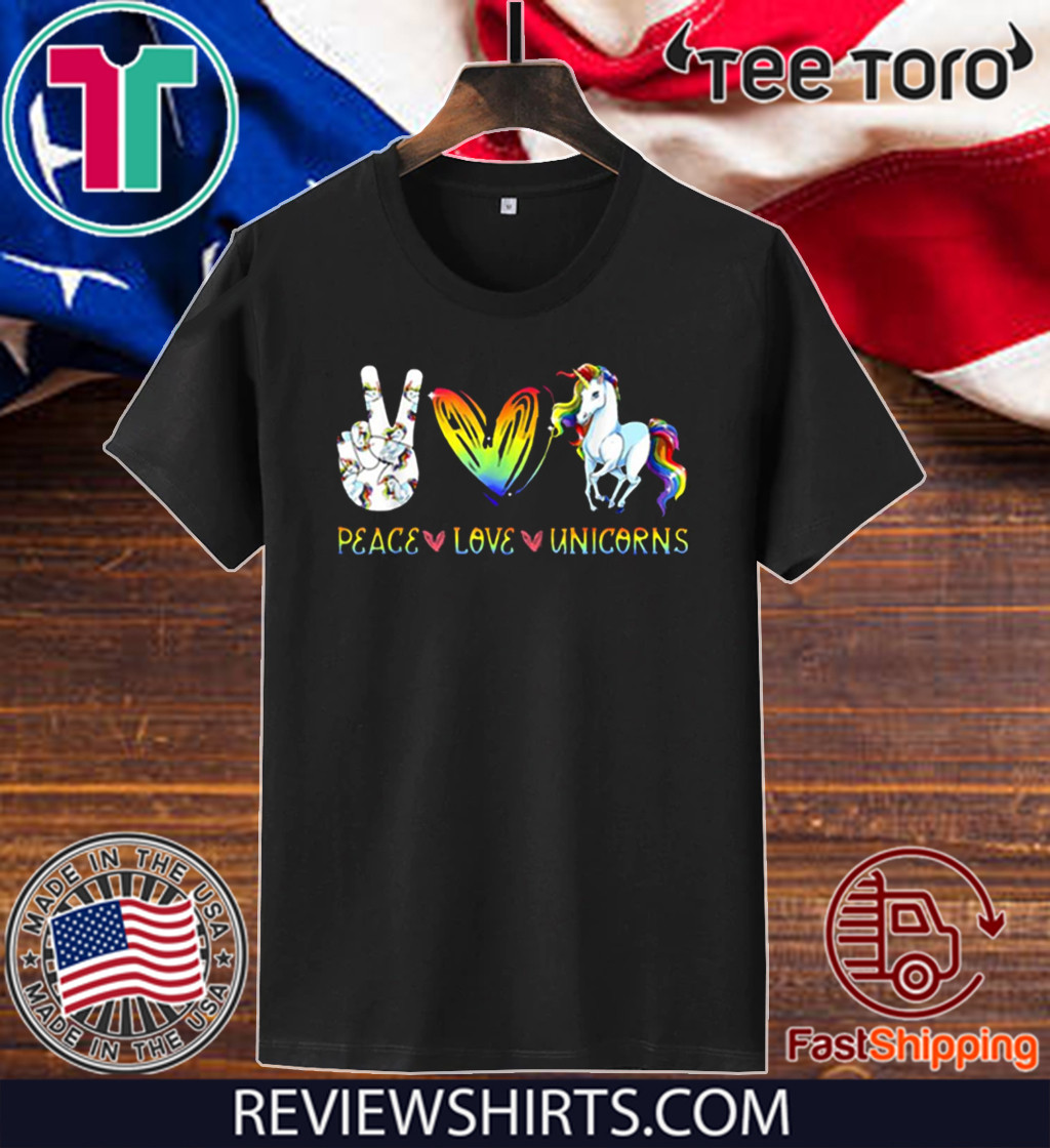 Peace Love Unicorn Hippie Style Awesome Official T-Shirt