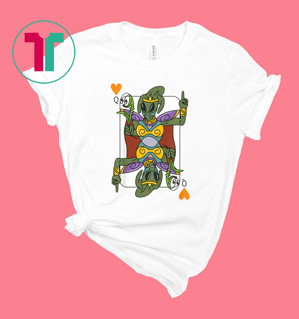 Poker Queen Alien T-Shirt