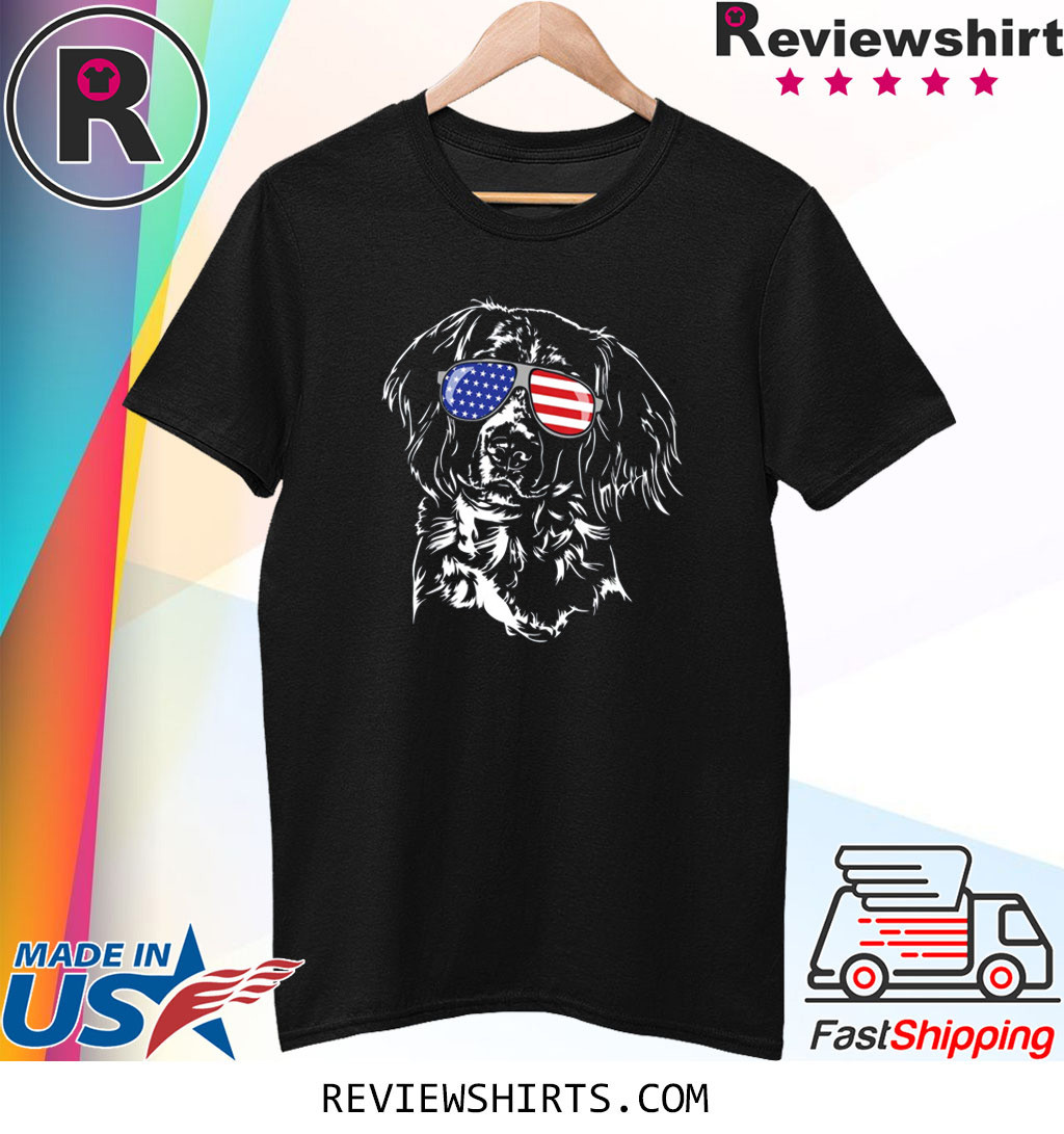 Proud Small Munsterlander Pointer American Flag Dog T-Shirt