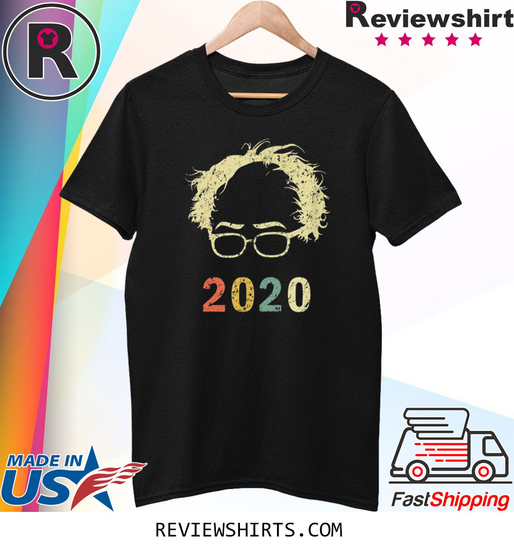 Retro Bernie 2020 Shirt Glasses Hair Vintage Bernie Sanders T-Shirt