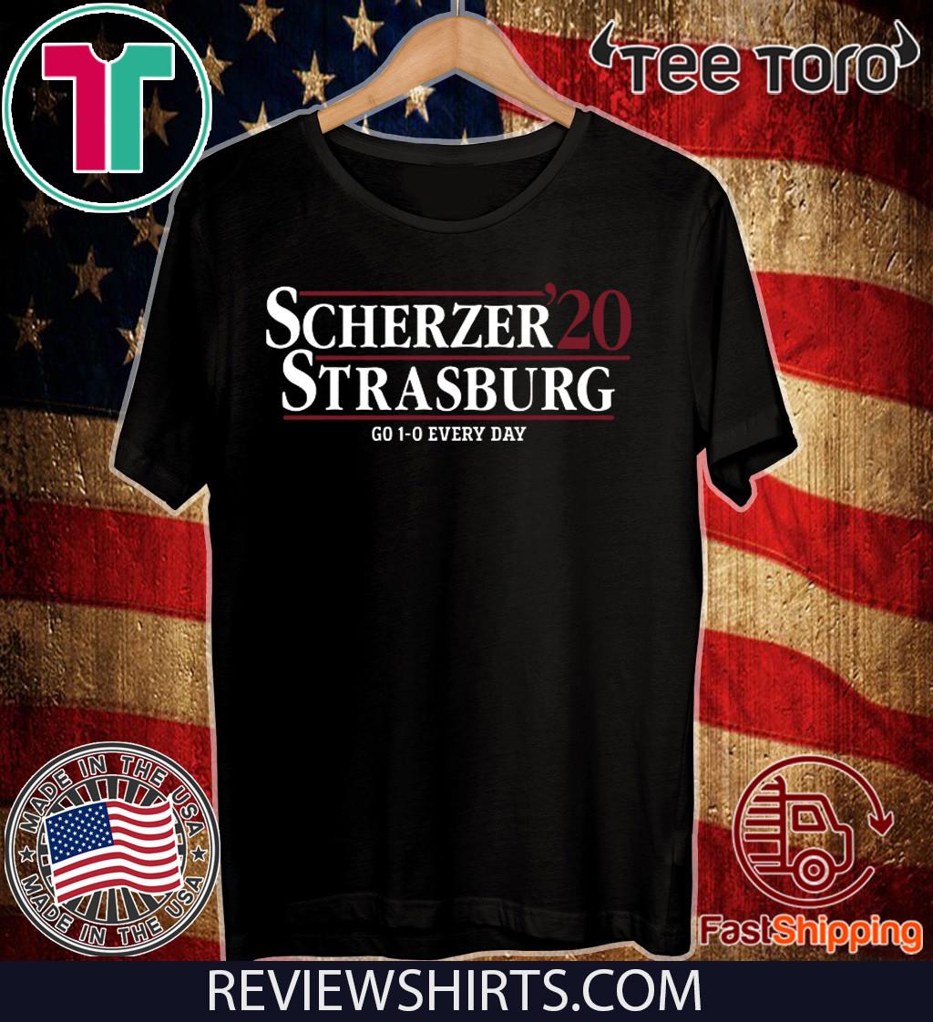 Scherzer Strasburg 2020 Go 1-0 Every Day T-Shirt