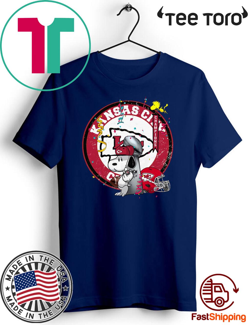 Soppy Kansas City Chiefs Super Bowl Champions 2020 T-Shirt
