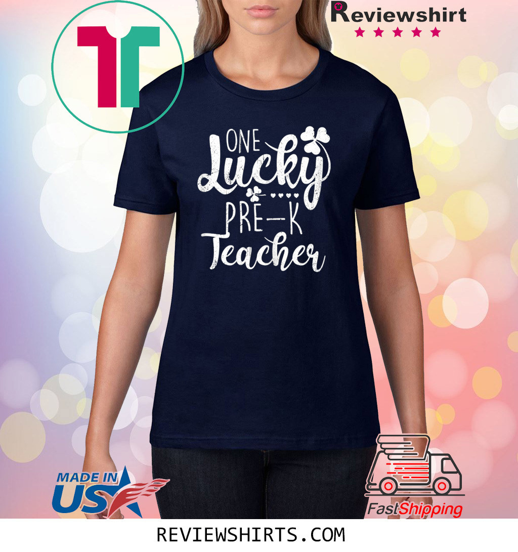 St Patricks Day One Lucky Pre-K Preschool Teacher T-Shirt