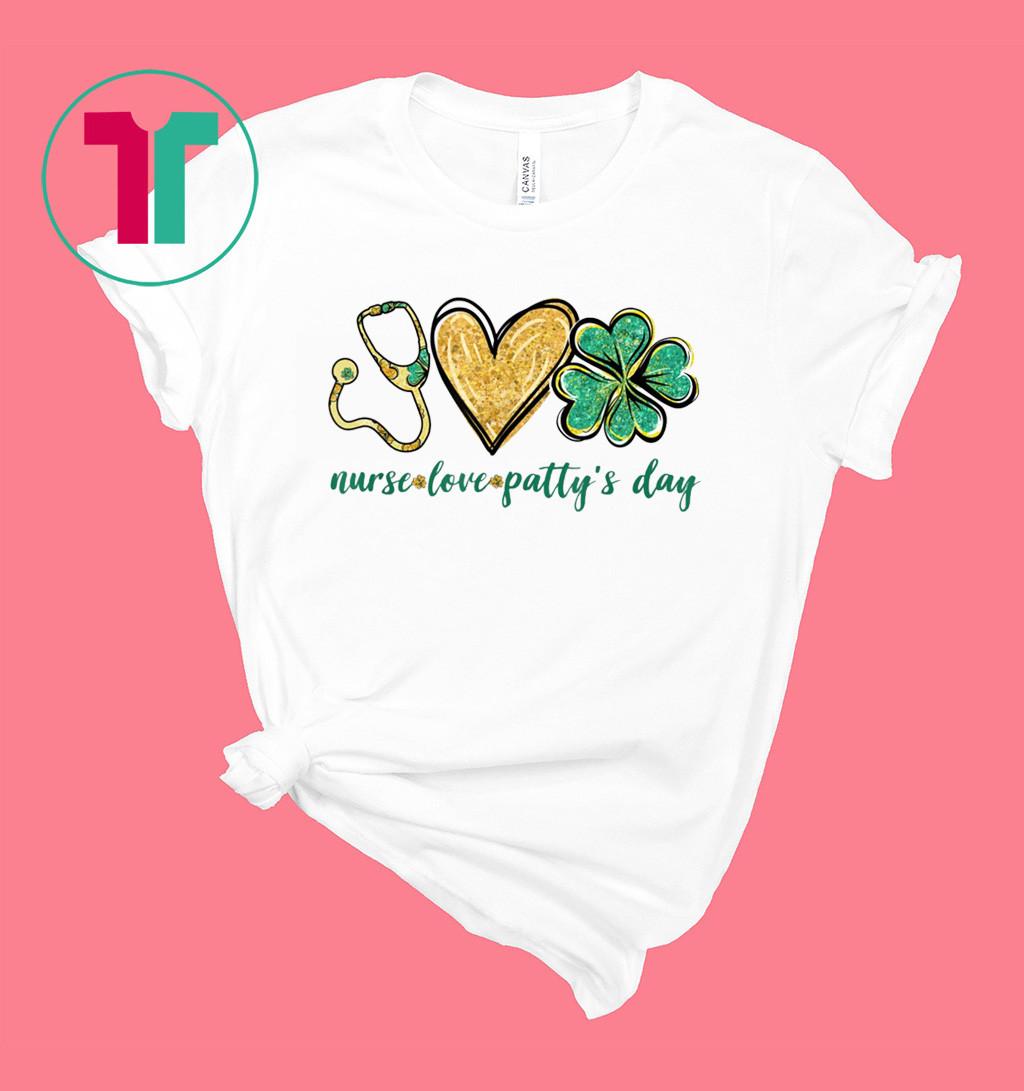 Stethoscope Love Shamrock Nurse Cute St Patty's Day Gifts T-Shirt