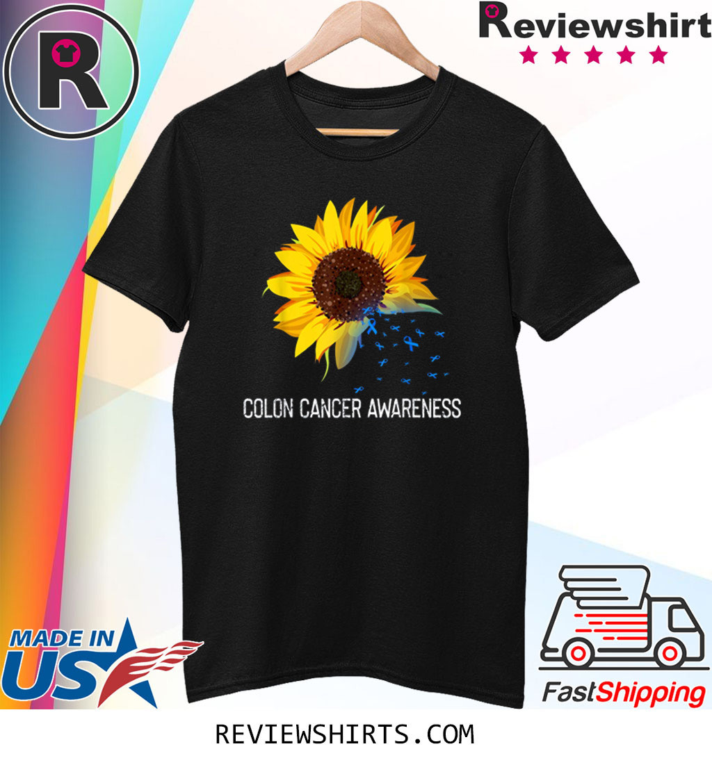 Sunflower Colon Cancer Awareness Costume Ribbon T-Shirt