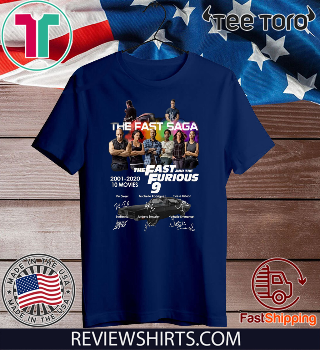 Official The Fast Saga The Fast And The Furious 9 T-Shirt