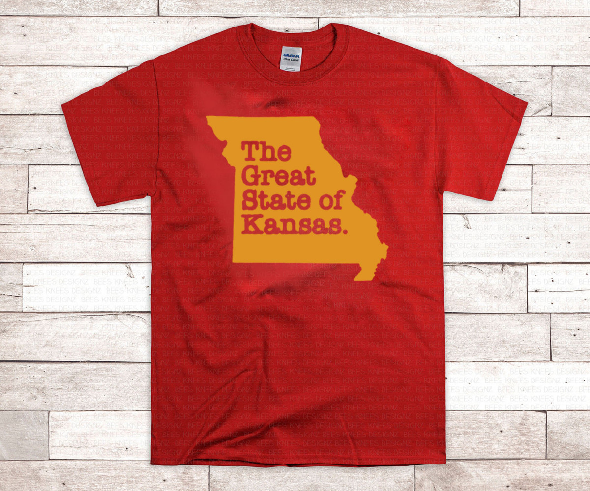 KANSAS CITY CHIEFS SHIRT - THE GREAT STATE OF KANSAS HOT T-SHIRT