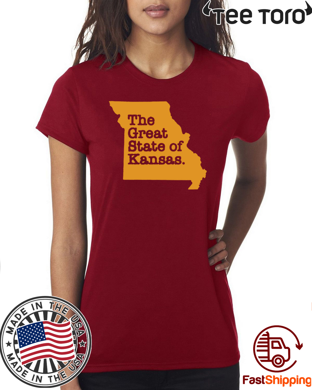 The Great State of Kansas or Missouri Official T-Shirt