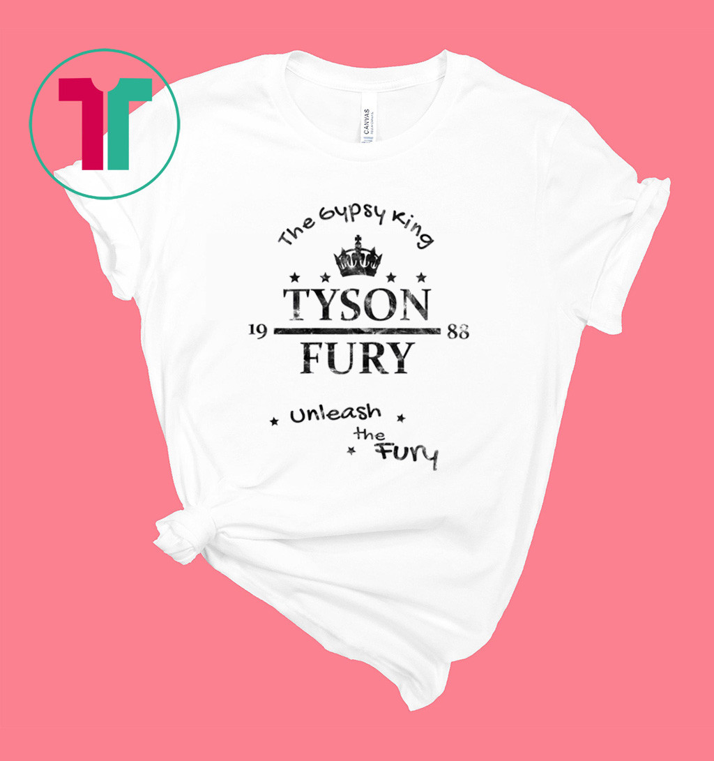 Tyson Fury The Gypsy King Unleash the Fury T-Shirt