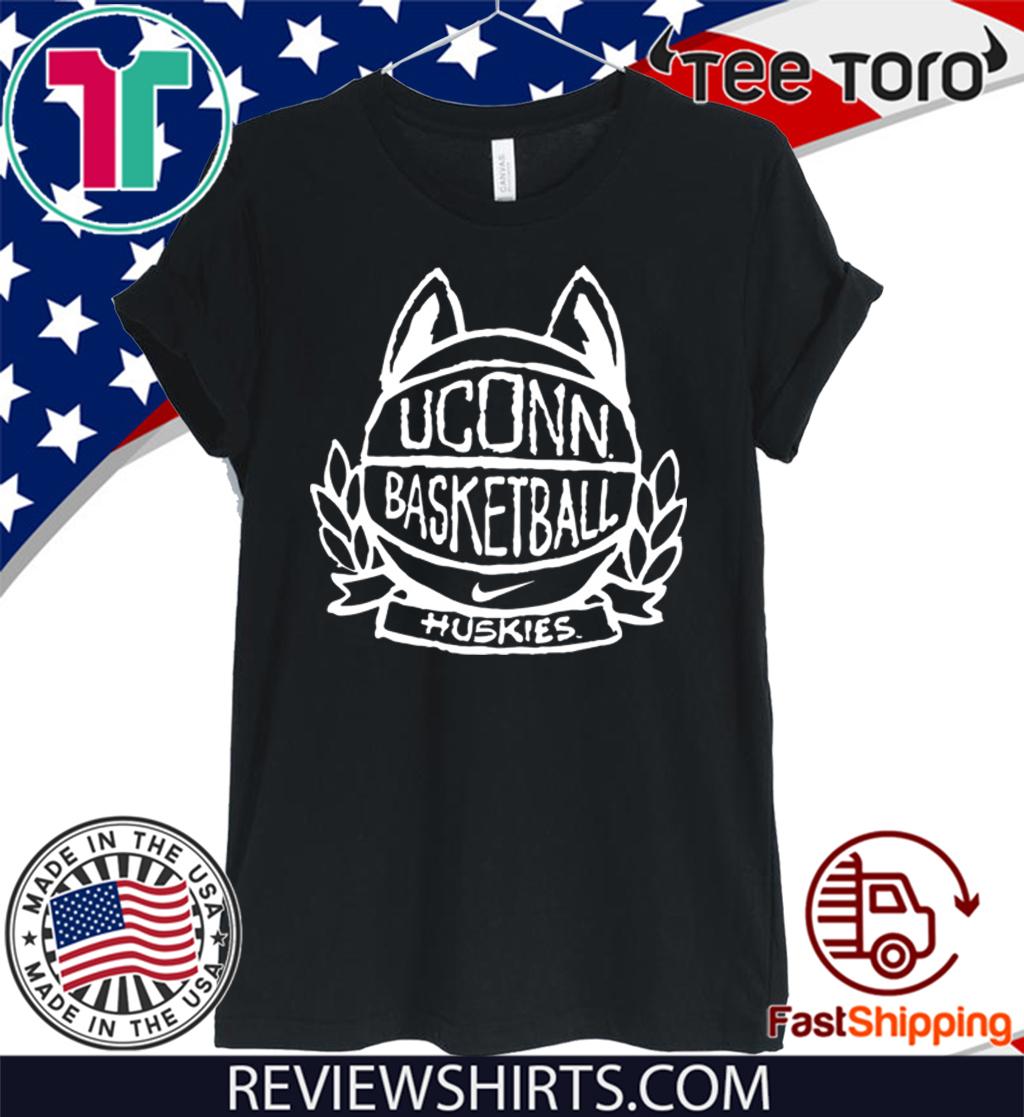 UConn Huskies Navy Basketball Crest T-Shirt