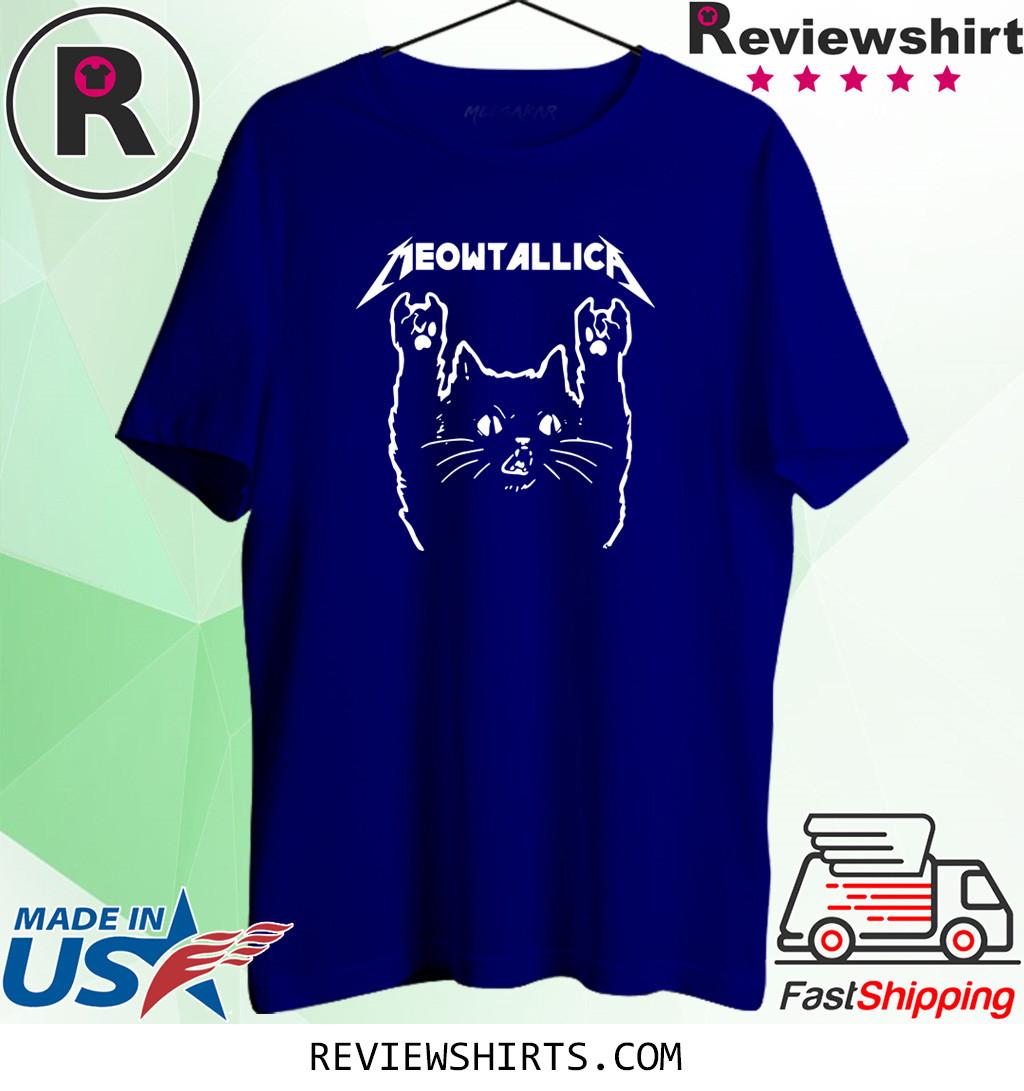 Meowtallica Cute Love Cats T-Shirt