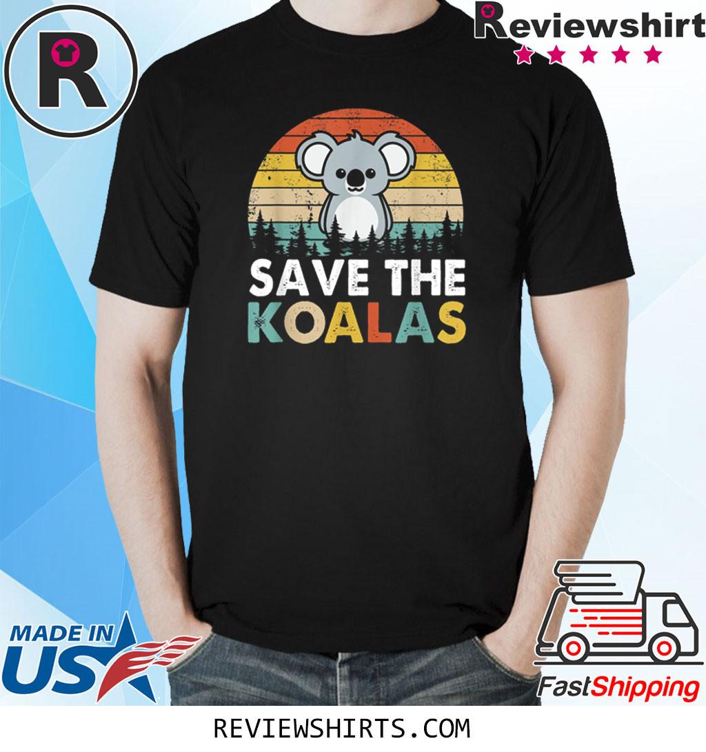 Vintage Save The Koalas Bear Australian Animal Lovers Gifts Shirt