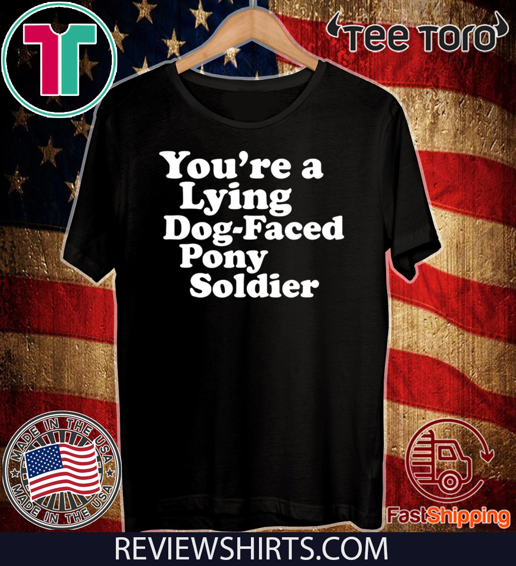 You're a Lying Dog-Faced Pony Soldier Joe Biden Meme Joke For T-Shirt