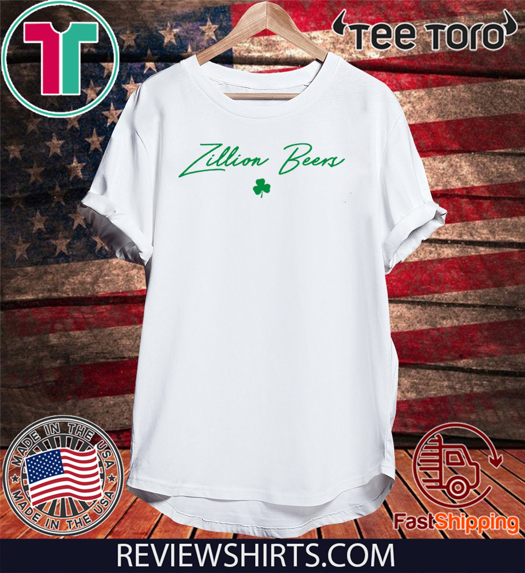 Zillion Beers Shamrock Cropped 2020 T-Shirt