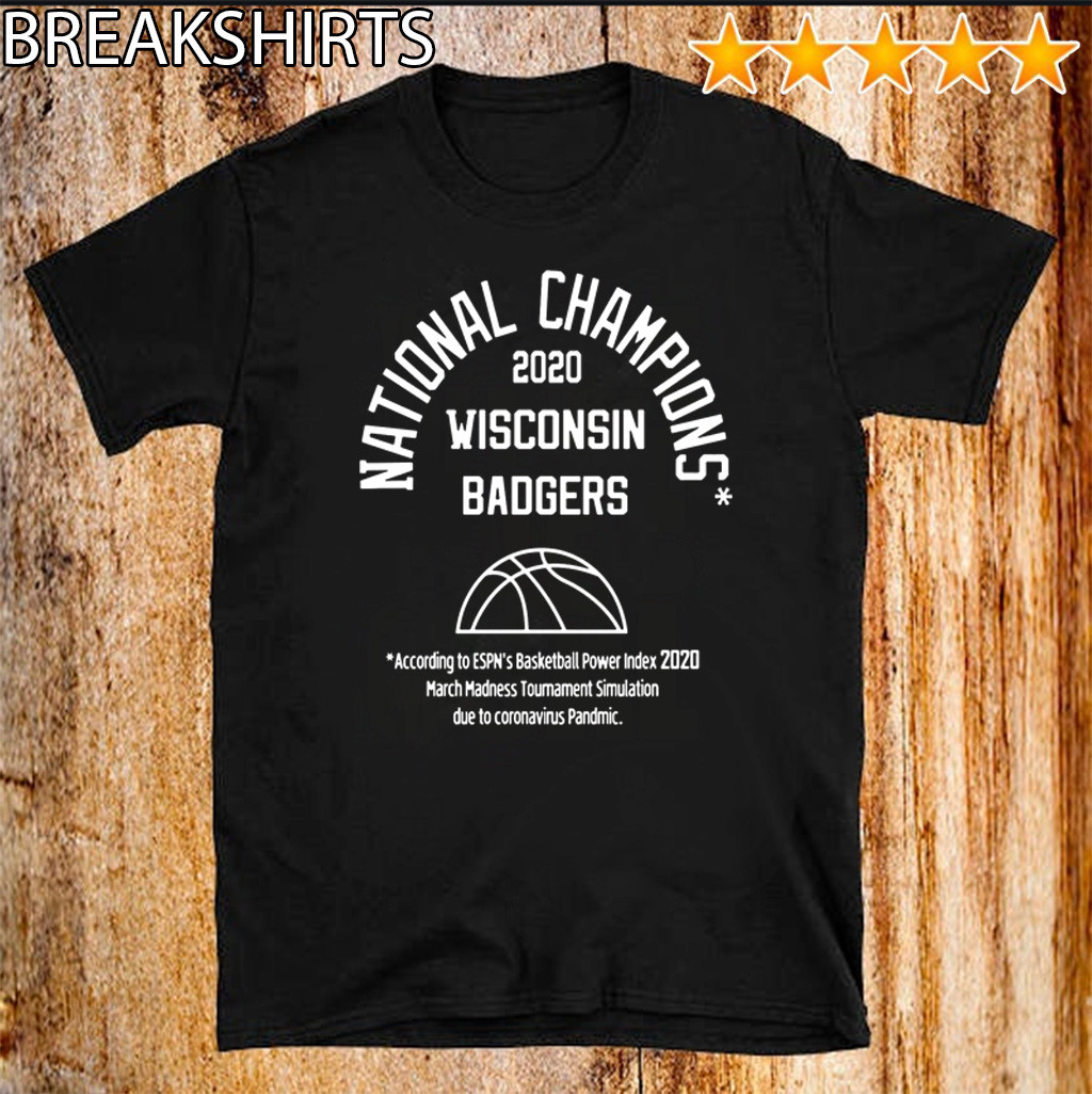 2020 NATIONAL CHAMPIONS OFFICIAL T-SHIRT – WISCONSIN BADGERS