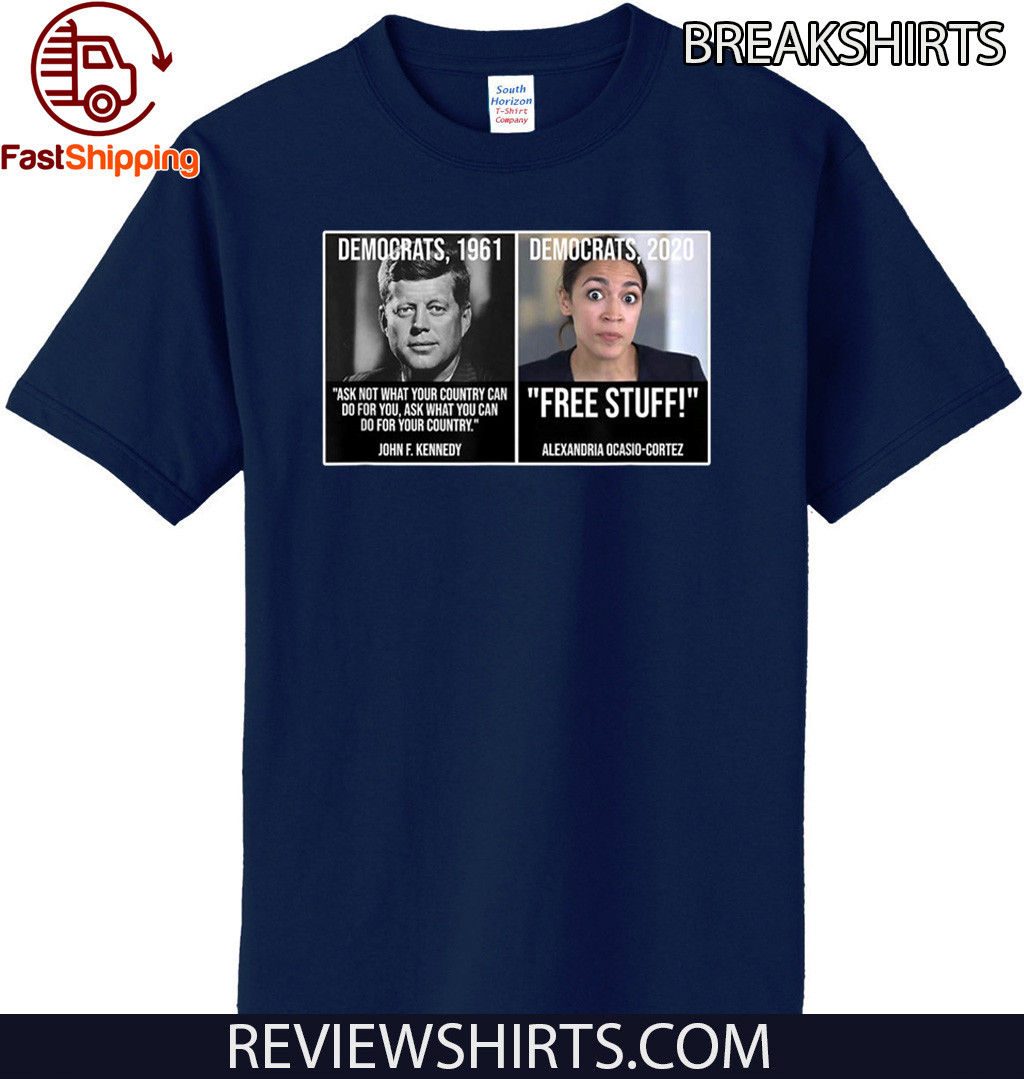 Alexandria Ocasio Cortez John F Kennedy Fun Liberal Democrat 2020 T-Shirt