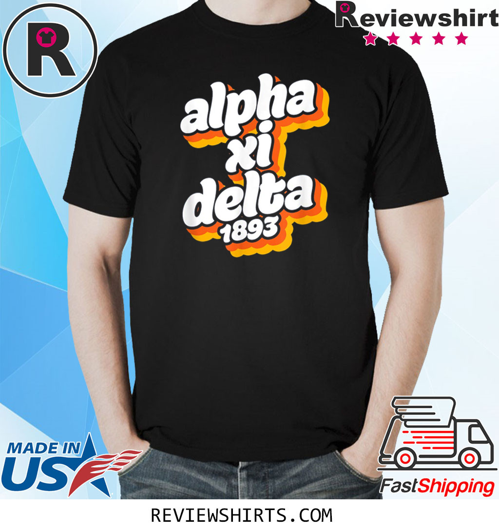 Alpha-Xi-Delta Sorority Retro Vintage Sisterhood Greek Shirt