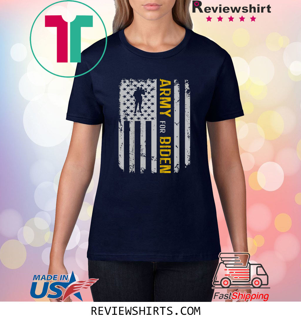 Army Election For Biden USA Army Vintage T-Shirt