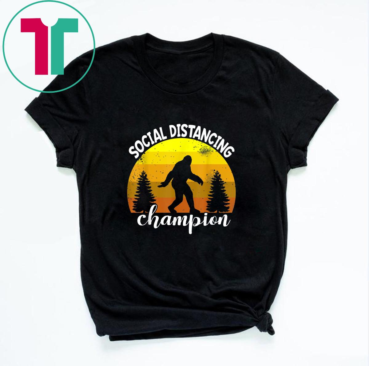 BigFoot Sasquatch Conspiracy Social Distance Champion T-Shirt